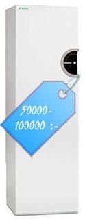 En frånluftsvärmepump kostar ca 40000-90000 kronor.
