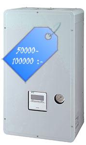 En luft-vattenvärmepump kostar ca 50000-100000 kronor
